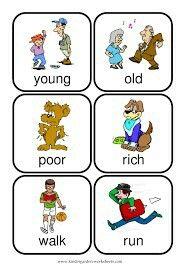 English Writing Skills, English Reading, English Vocabulary, English Phonics, Opposites Preschool, Opposites Worksheet, Preschool Kindergarten, Kindergarten Worksheets, Preschool Alphabet