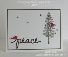 www.SarahsInkSpot.com  Made using stamps & dies from the Thoughtful Branches…