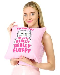 OMG!!!!! Check out what I found on Shop Jeen.com!!! What do you think?!?! I'M JUST FLUFFY PILLOW
