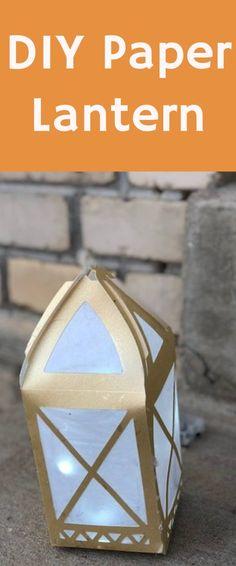 DIY paper lantern / paper lantern / cricut maker / cricut projects / cricut DIY and crafts / wedding crafts / wedding decor / diy wedding decor via @clarkscondensed