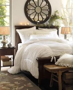 Love huge pieces over the bed