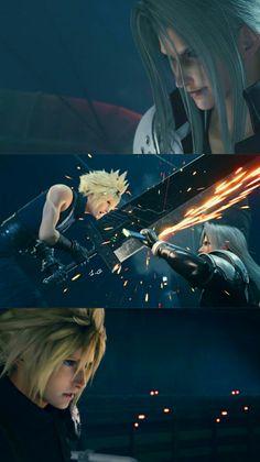 Final Fantasy Cloud, Final Fantasy Artwork, Final Fantasy Vii Remake, Fantasy Series, Cloud And Tifa, Cloud Strife, Vincent Valentine, Love Cartoon Couple, Game Concept Art