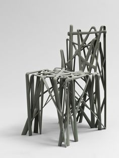 """C2 Solid Chair  Patrick Jouin (French, born 1967)    2004. Epoxy resin, 30 7/8 x 15 7/8 x 21 1/4"""" (78.5 x 40.4 x 54 cm). Manufactured by Materialise NV. Fund for the Twenty-First Century. © 2013 Patrick Jouin"""