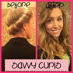 "M'kenna sent us this beautiful before and after and said, ""I really do love these headbands! I can already tell that my hair is getting healthier from not using heat."" Savvy Curls is the easiest and healthiest no heat curling option for your hair. Visit us at www.savvycurls.com"
