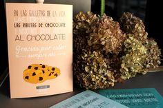 Lámina A4 personalizada con ilustración de galletas con chocolate.