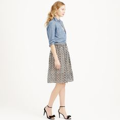 Punched-out eyelet skirt : skirts | J.Crew