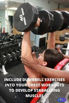 Dumbbell Chest Workout Routine - Health Fitness And Dumbbell Chest Workout, Chest Workout Routine, Dumbbell Exercises, Fitness Goals, Health Fitness, I Wish You Well, Incline Bench, Chest Muscles, How To Better Yourself
