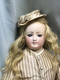Carrot Blond Mohair Baby Cap Handtied