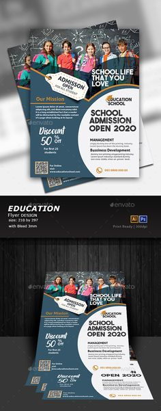 Buy Education Flyer Design by Designcrew on GraphicRiver. Education Flyer Design fully editable in illustrator and Photoshop Source: Ai, Eps, Psd Size: 210 by 297 Ble. Logo Template, Flyer Design Templates, Print Templates, Flyer Template, Flugblatt Design, Design Flyers, Cover Design, Layout Design, Graphic Design