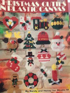 CHRISTMAS CUTIES IN PLASTIC CANVAS - MAGNETS/ORNAMENTS 1/3