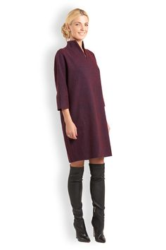 UONA.ru - Интернет-магазин одежды российского бренда UONA | Платье со стойкой