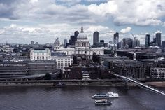 London June 2016 #1 | View from Tate Modern towards St.Paul's Cathedral and the City of London | Moonlight Bohemian London City, New York Skyline, Cathedral, Travel Photography, Moonlight, Places, Modern, June, Bohemian