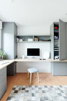 Bureau - Home office - Home working Spare Room Office, Home Office Setup, Home Room Design, House Design, Backyard Office, Home Gadgets, House Rooms, Interior Design, Organization