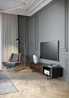Living Room Paint, Living Room Grey, Living Room Decor, Apartment Interior, Apartment Living, Living Room Interior, Apartment Ideas, Luxury Apartments, Luxury Homes