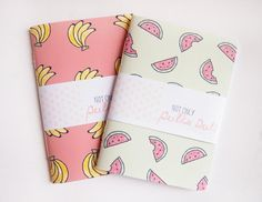 Small Blank Notebooks // Fruity // Tropical by notonlypolkadots, £3.50 #backtoschool