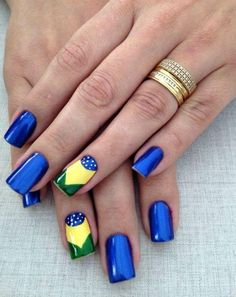 As Mas Belas Unhas Decoradas Pra Copa Do Mundo 2018 Lindas E Delicadas