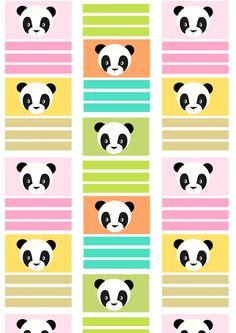 FREE printable panda pattern paper   pastel