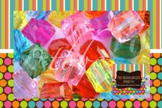 20mm Translucent Cube Beads~they add so much sparkle and color to your Bubblegum Bead designs.