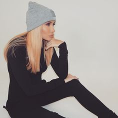 36500b8d138 CHANNON ROSE is obsessed with the Original Slim Onesie and the Raw Beanie   onepeicenorway