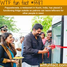 Restaurant in India placed a fridge outside for people in need - WTF fun facts