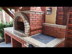 Cum să îți construiești un grătar de grădină - YouTube Outdoor Kitchen Patio, Outdoor Decor, Adobe, Decoration, Bbq, Backyard, Construction, Building, House