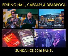Vashi Nedomansky / Tim Miller / Katie McQuerrey / Catherine Farrell panel at #Sundance #filmmaking #PremierePro #Adobe #Deadpool