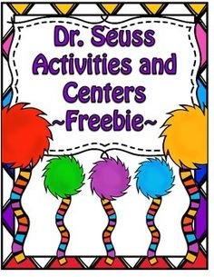 Dr. Seuss! *Updated*  Celebrate Dr. Seuss' Birthday with this free pack!   •	Oobleck worksheet •	Oh The Places You'll Go Writing Cut out the hot air balloon shapes. Have students decorate the plain white balloon. Have students write down a place they would like to visit and why.