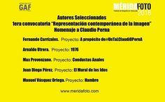 """1era Convocatoria """"Representación Contemporánea de la Imagen""""  Homenaje a Claudio Perna"""