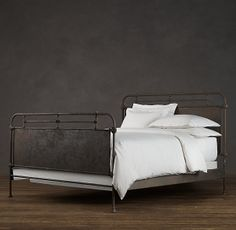 This was the inspiration for my bedroom. Love the hospital bed feel and industrial style. Happy I got a better deal and found a bed just like it.