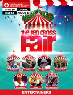 Are You Ready to be Entertain! Well come on down to the Red Cross Fair April 30th, 2016!