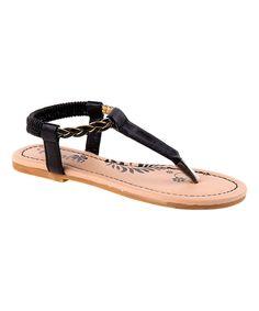Black Braided Sandal