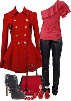 """Red and black."" by fashion-766 on Polyvore"