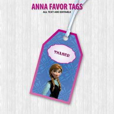 Anna Favor Tags by DigitalDesignChile on Etsy
