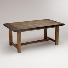 $699.  Cost Plus.  Crafted of metal and mango wood with a rustic finish  Seats 6; 8-10 with extension