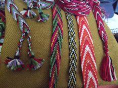 Finger Weaving, Inkle Loom, Craft Tutorials, Friendship Bracelets, Vikings, Tassels, Braids, Textiles, Sewing
