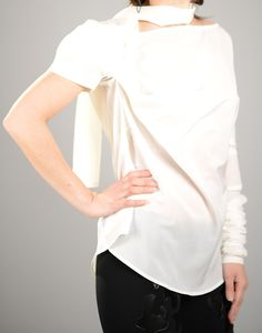 Chiffon Blouse with a Unique Design https://www.etsy.com/listing/228073000/chiffon-white-top-elegant-top-sexy-tunic?ref=shop_home_active_16