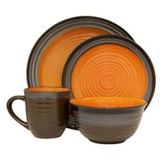 I pinned this 16 Piece Hudson Dinnerware Set from the Pumpkin Patch event at Joss and Main!