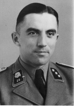 """Paul Werner Hoppe, Kommandant at Stutthof (1942-1945.) Won the Iron Cross First Class, while serving in the SS Totenkopf Division. He was sentenced to nine years imprisonment, released in 1966 and died in July 1974. After the war, he stated about the Final Solution, """"All this never happened. It's all lies."""""""