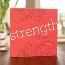 "Strength - Canvas Wrapped 6"" Block"