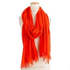I have a spring time orange scarf like this from Target! Hope it turns out like this!