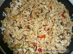 Τηγανιτό ρύζι με χρωματιστές πιπεριές #sintagespareas