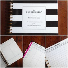 Undated Blank Day Designer - A Yearly Strategic Planner & Daily Agenda for the Creative Entrepreneur. Whitney English via Etsy.