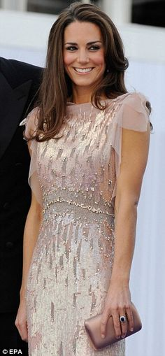 Glitz and glam: The Duchess of Cambridge arrive for ARK charity gala in a dazzling Jenny Packham gown