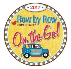 2017 Row by Row logo featuring car stuffed with fabric