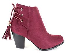 Women's SWIFT-05 Faux Suede Casual Side Zip-up Chunky Heel Ankle Booties