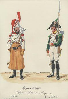 Zappatore e Volteggiatore del 1 rgt. fanteria di linea