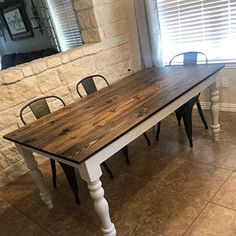 Unfinished Cottage Farmhouse Dining Table Legs- Turned Wood Legs- Design 59 inc Dining Room Table Legs, Farm Table Legs, Painted Dining Room Table, Turned Table Legs, Dining Table Makeover, Dining Table With Bench, Pine Table, Dining Table In Kitchen, Turned Wood