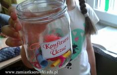 Konfitura uczuć ~ Zamiast kserówki. Kids And Parenting, Techno, Mason Jars, Diy Crafts, Mugs, Tableware, Handmade, Inspiration, Preschool