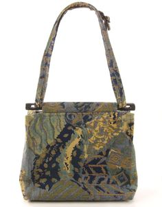 Blue and Green Toby Weston Brand Handbag, Hand made in the USA, Soft Material #TobyWeston #TotesShoppers