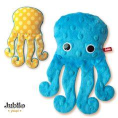 Jubilo: doudou poulpe ultra-doux ! peluche pieuvre, création française Dou Dou, Diy Bebe, Diy Couture, Needlework, Preschool, Creations, Kids Rugs, Baby, Mobiles
